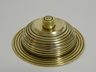 "Vintage Reclaimed Beehive Brass Door bell push / servants call bell 3"" diameter"
