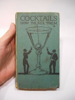 Antique Vintage ART DECO Book COCKTAILS HOW TO MIX THEM Embassy Club London