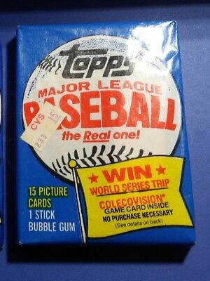 Unopened Topps Baseball Cards 1983 Wax Pack - Free Shipping