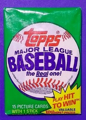 1981 Unopened Topps Baseball Cards Wax Pack - Free Shipping