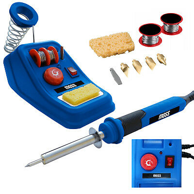 Moss 48W Variable Temperature Soldering Station Iron Electronic W/ Extra Tips