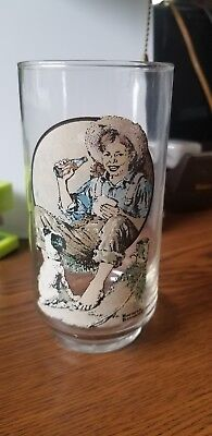 Vintage normand rockwell COCA-COLA Coke DRINKING GLASS tumbler