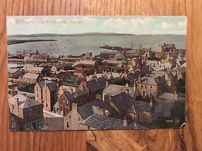 Vintage Postcard, Kirkwall, View from Cathedral tower, Orkney, Early View