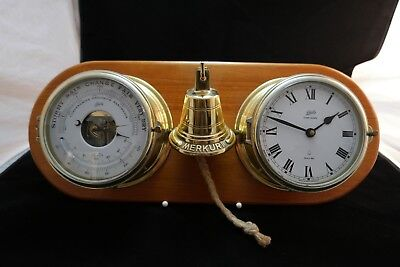 Schatz Ship's Bell - Barometer - Ocean Quartz - Merkur II - Made in West Germany