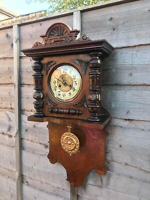 Rare Vintage Antique German Victorian Clock Company A Maier Chiming Clock