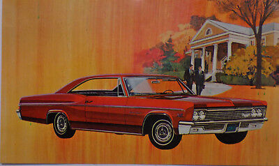 1966 Chevrolet Impala Super Sport  Dealers Promo Post Card Unused Litho in USA