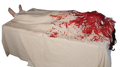 Halloween LifeSize Animated WAKE UP BLOODY DEAD MORGUE Prop Haunted House NEW