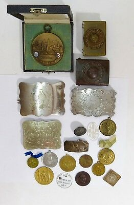 Vintage Wwi & Wwii German Officer Belt Buckles And Memorabilia - 15+++Pieces