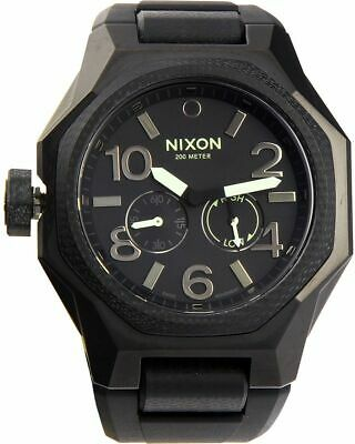 Nixon Tangent Sport Black Dial Silicone Strap Men's Watch A50500100