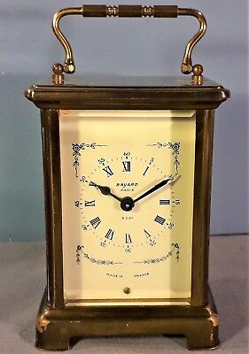 Vintage French Bayard Duverdrey And Bloquel Brass Carriage Clock, Working order