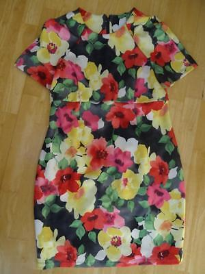 ASOS MATERNITY ladies multi floral day / occasion wear dress UK 12 EXCELLENT
