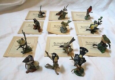 The Songbird Miniatures by Franklin Mint - COLLECTION OF 12! Pewter (pre-owned)