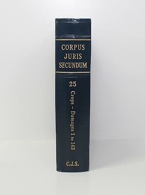 Corpus Juris Secundum 1966 Law Book Volume 25 / Crops - Damages 1 to 143