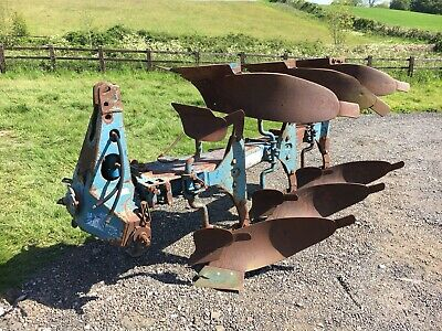 Ransomes 3 Furrow Reversible Plough, Cultivator, Hydraulic Turn Over, Tractor