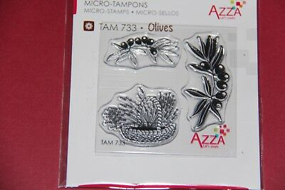 Scrapbooking - Azza - Micro Tampon Olives