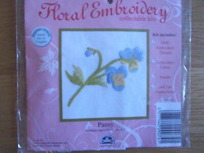 Pansy. Embroidery kit. DMC. Stamped design.