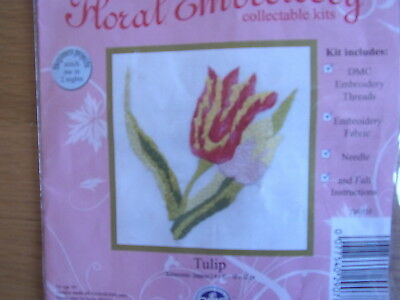 Tulip. DMC. Floral embroidery kit.