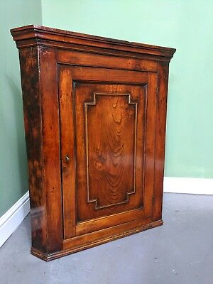 An Antique Early 19th Century Oak Wall Hanging Corner Cupboard ~Delivery Availab