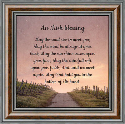 May the Road Rise to Meet You,7786BC An Irish Blessing Religious Picture Frame