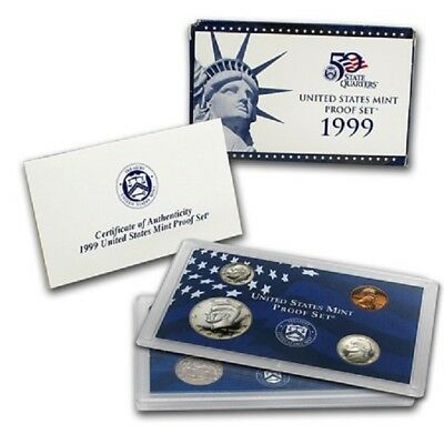 1999 United States. Proof Set -- 9 coins set -- Free Shipping *
