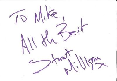 Stuart Milligan signed card autograph American actor Jonathan Creek Doctor Who