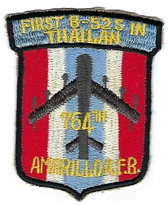 USAF AIR FORCE PATCH REPRO 764th BOMB SQUADRON AMARILLO AFB FIRST B-52s ....