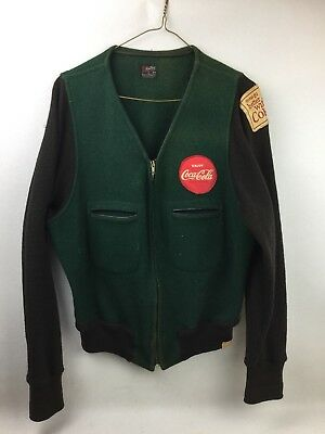 Early 1960's Vintage Coca-Cola Delivery Truck Drivers Jacket. Size 42