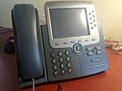CISCO CP-7975G VOIP IP Office Phone 7975 Color Display Telephone