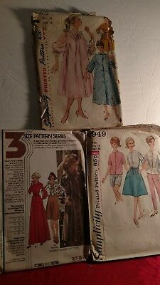 Lot of Simplicity.& McCall's vintage sewing patterns in size 14