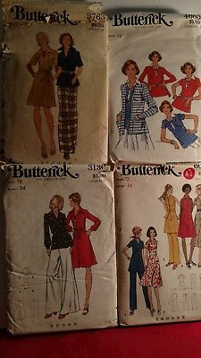 Lot of Butterick vintage sewing patterns in size 12..