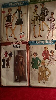 Lot of Simplicity vintage sewing patterns in size 12 ..
