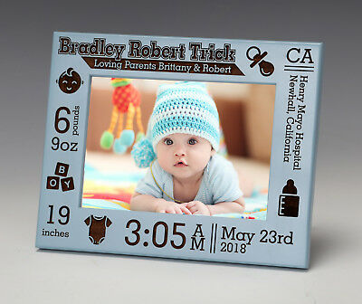 Baby Picture Frame, Personalized Birth Announcement, Newborn Baby Gift, Nursery