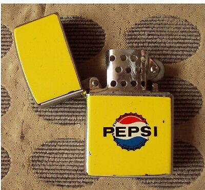 60s Penguin Vintage MEXICAN PEPSI-COLA Advertising Lighter MEXICO W/Enamel Sign