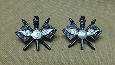 WWI US Army Officer Early Army Air Service Insignia (wings over globe) Pins)
