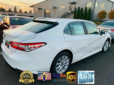 For 2018 19 Toyota Camry Le Se Xse Xle Vip Glossy Black Rear Window