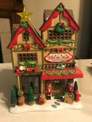 RETIRED/DISCONTINUED!!! Lemax Deck the Halls Christmas Village