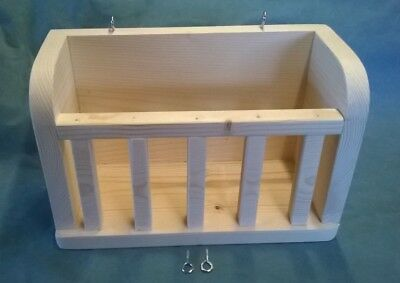 Kiln Dried Pine Wood Hutch Hay Rack/manger For Guinea Pig,rabbit,chinchilla