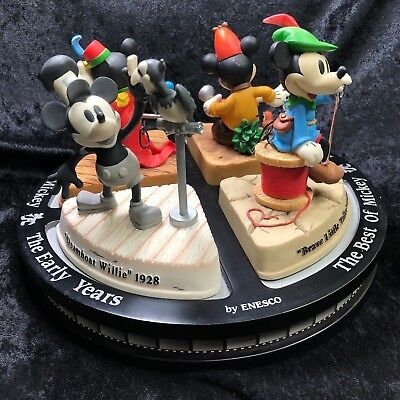 LIMITED EDITION Enesco Best of Mickey, The Early Years Figurines DISNEY Carousel