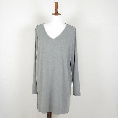 0dbb9964e5ff J. Jill Pure Jill Size XL Tunic Dress Heather Gray Luxe Tencel Long Sleeves