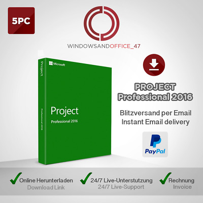 Microsoft Visio/Project 2016 Professional 1/2/3/4/5 PC Produkt-key per email
