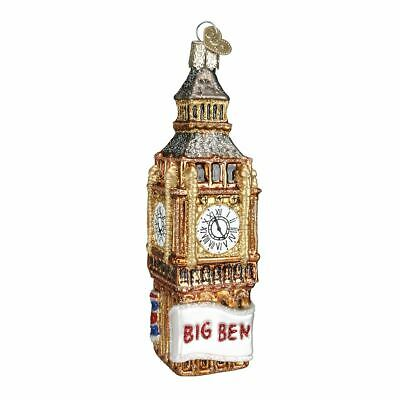 Big Ben Glass Ornament with Union Jack Flag
