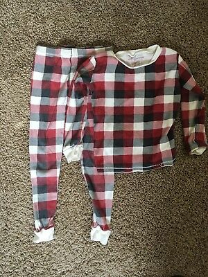 Burts Bee's Kids 5t 2 Piece Red Plaid Christmas Pajamas 100% Organic Cotton