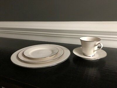 Noritake Ivory China Affection 7192 Mint Condition - One Set/Five Pieces