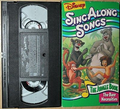 998028755 DISNEY S SING ALONG SONGS  THE BARE NECESSITIES (vhs) VG Cond. Rare ...