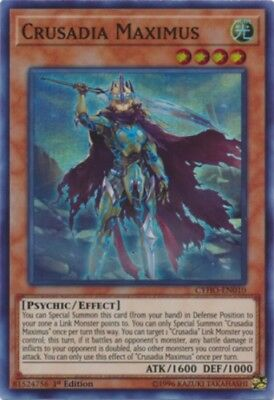 YuGiOh Crusadia Maximus - CYHO-EN010 - Super Rare - 1st Edition Near Mint