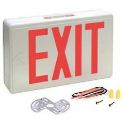 Preferred Industries E1025R (673061) Red LED Exit Sign AC Only 120/277VAC NOS