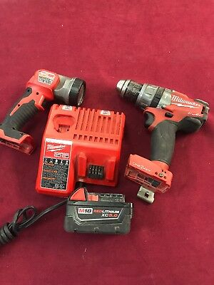 Milwaukee M18 FUEL One-Key Hammer Drill,5.0XC Battery, and Charger 2706-20 Light