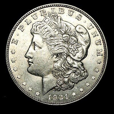 1921 D ~**ABOUT UNCIRCULATED AU**~ Silver Morgan Dollar Rare US Old Coin! #9