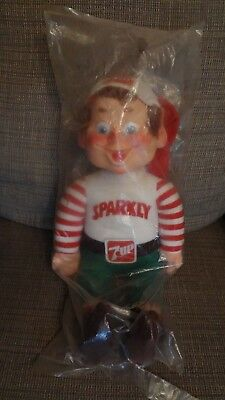 Vintage Sparkly 7UP Doll Still in Package! 1983 Holiday Helper