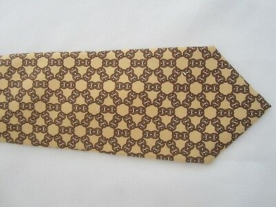 HERMES PARIS 7270 MA 100% Silk TIE NECKTIE Made In FRANCE Nautical ROPE KNOTS